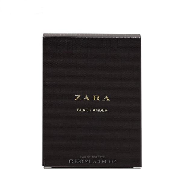 zara black amber edt